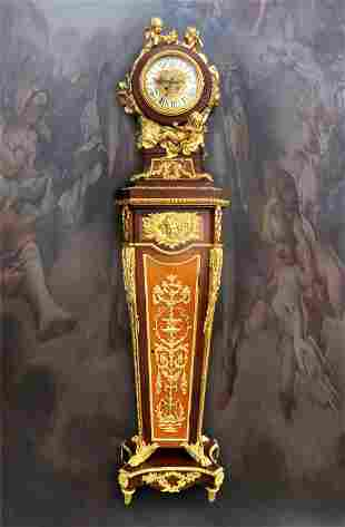 A Monumental Louis XV Style Ormolu Mounted Parquetry