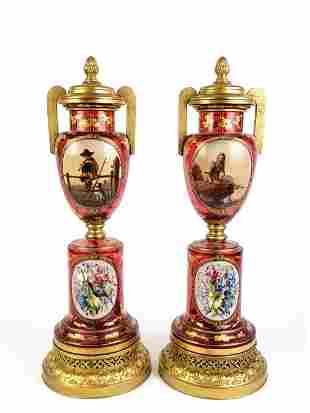 Pair of Bohemian Lamps