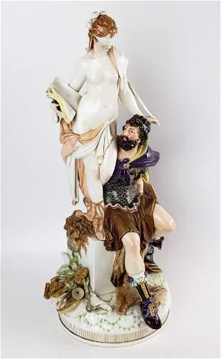 Large KPM Figural Porcelain Group, 19th C.