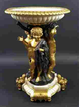 Late 19th C. Tiffany Signed Gilt & Patinated Bronze