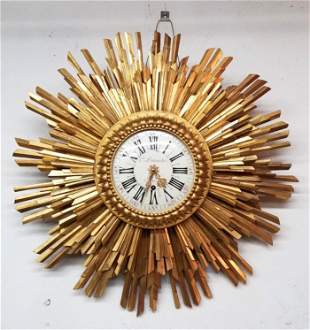 A Louis XVI Style Giltwood Wall Timepiece, In a