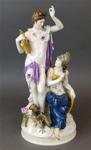 19th C. KPM Large Porcelain Figural Group