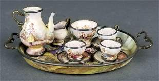 Austrian Viennese Enamel on Silver Teaset, 19th C.