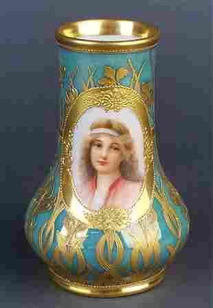 Fine 19th C. Royal Vienna Handpainted Vase
