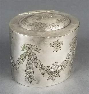 German Silver Till Box