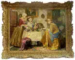 Magnificent Oil on Canvas S. Von Trautweiller