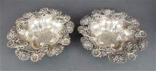 Pair of American Sterling Silver Dishes