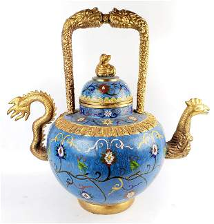 Large Chinese Cloisonne Teapot