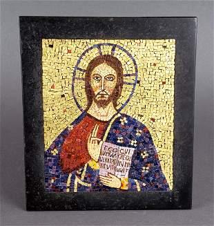 Micromosaic Plaque of Jesus Christ