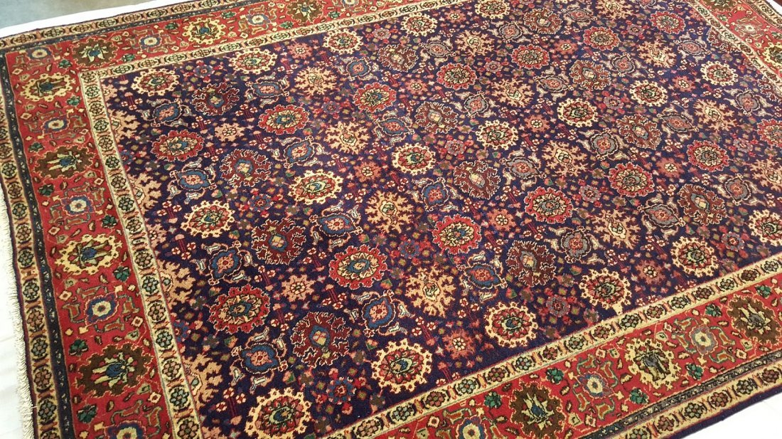 Persian Vintage Tabriz  rug carpet - 3