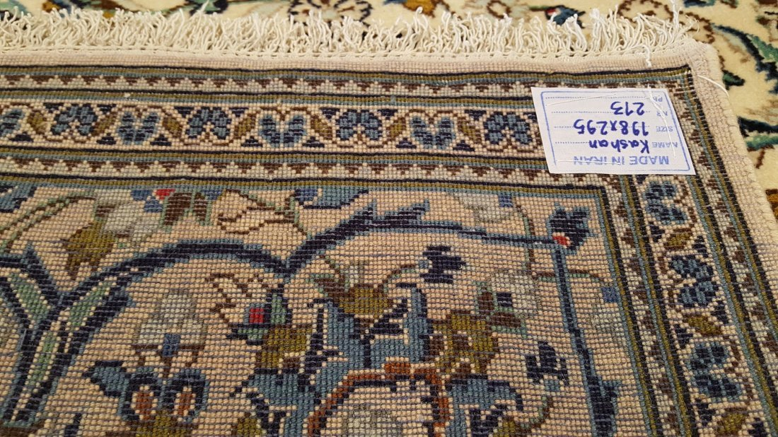 Fine Persian KASHAN Rug Carpet - 7