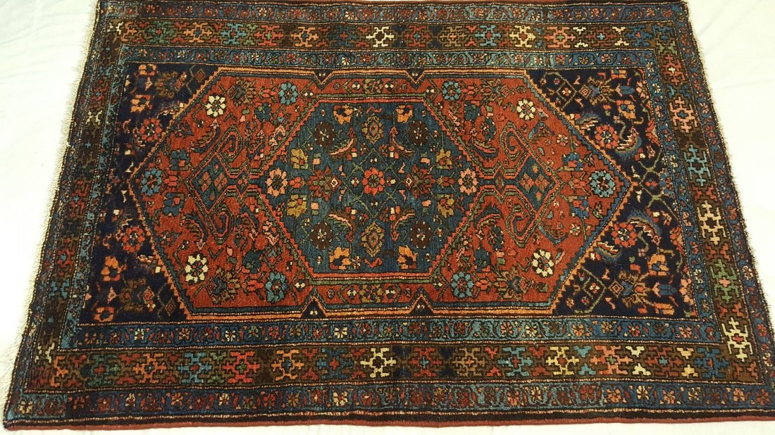 Persian HAMADAN Rug Carpet - 4