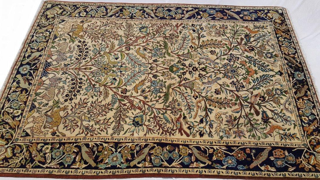 Fine Persian Isfahan Rug Carpet - 2