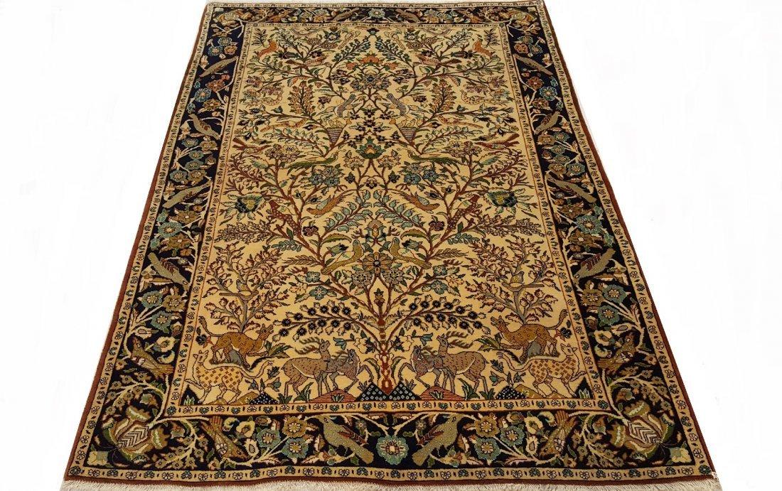 Fine Persian Isfahan Rug Carpet - 3