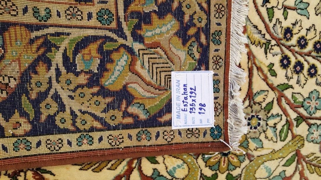 Fine Persian Isfahan Rug Carpet - 6