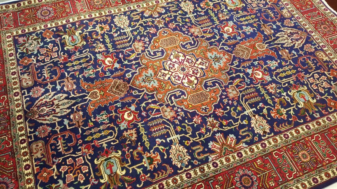 Fine Vintage Persian TABRIZ Rug Carpet - 3