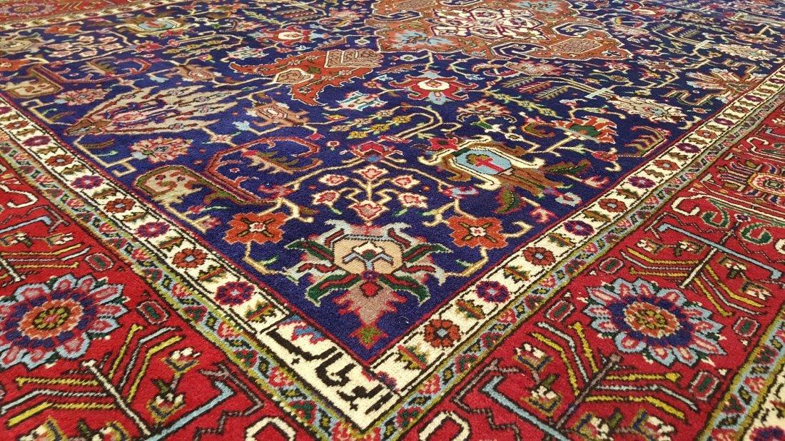 Fine Vintage Persian TABRIZ Rug Carpet - 4