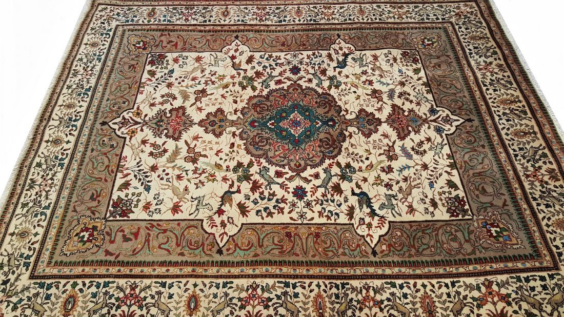 Fine Persian Sarouk Rug Carpet - 2