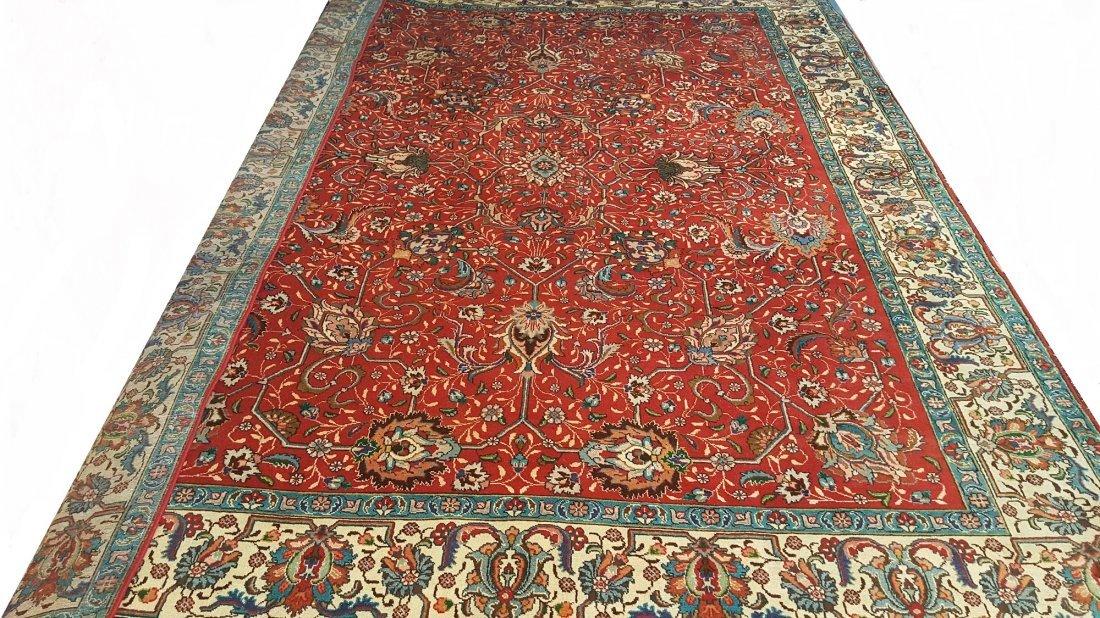 Persian Vintage Tabriz Rug Carpet - 2