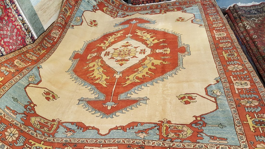 Persian Karaja Heriz Rug Carpet - 3