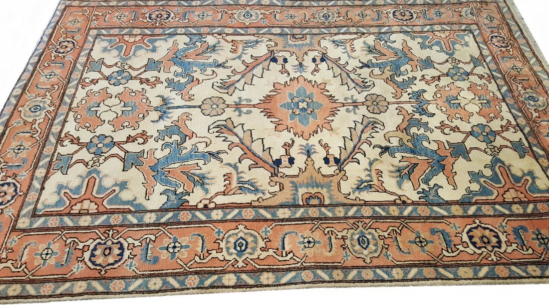 Persian Heriz Carpet Rug Tabriz knot - 5