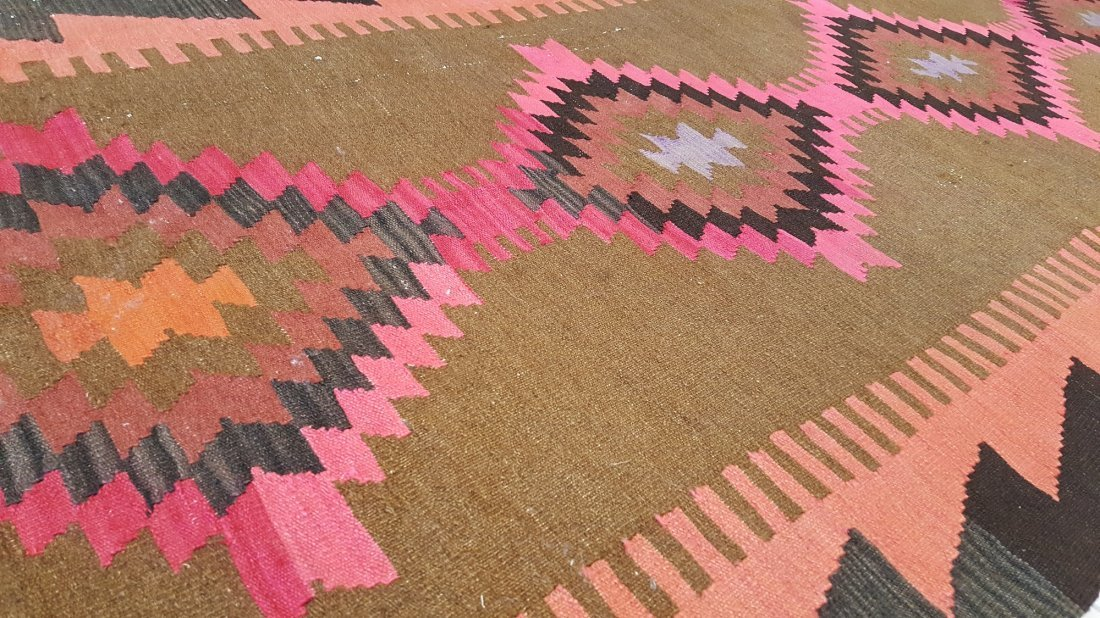 Persian Meshkin Kilim Rug Carpet - 7