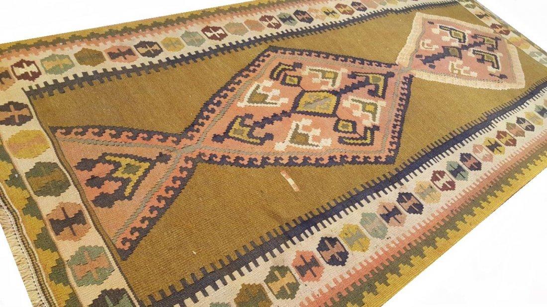 Persian Qashqai Kilim Rug Carpet - 2