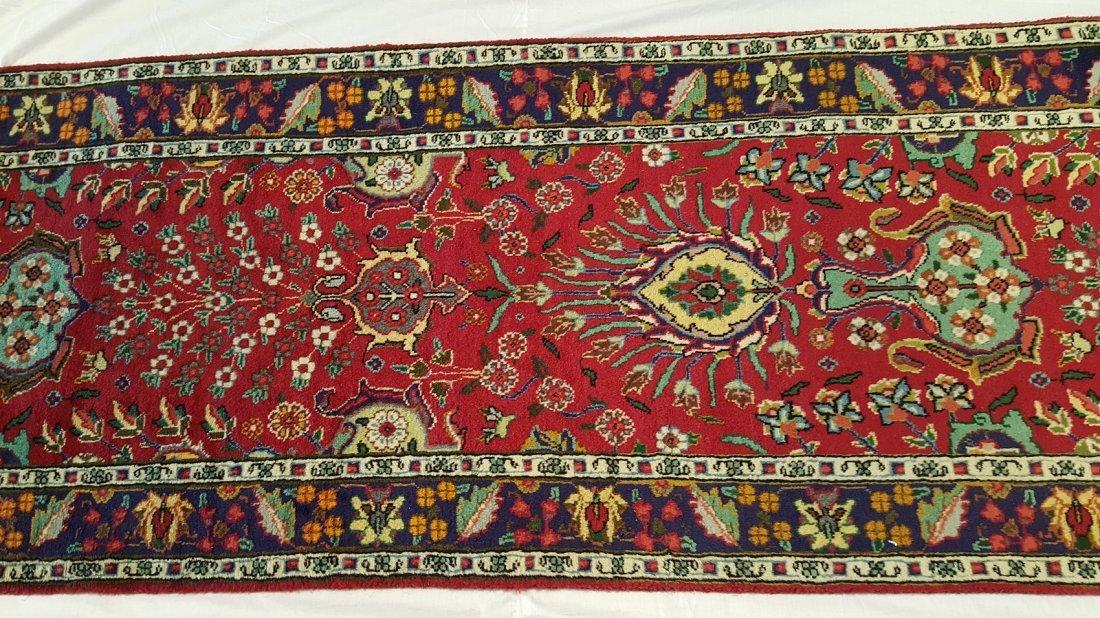 Fine Persian Tabriz Runner Rug Carpet - 2