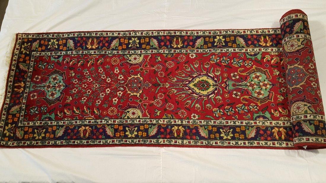 Fine Persian Tabriz Runner Rug Carpet - 3