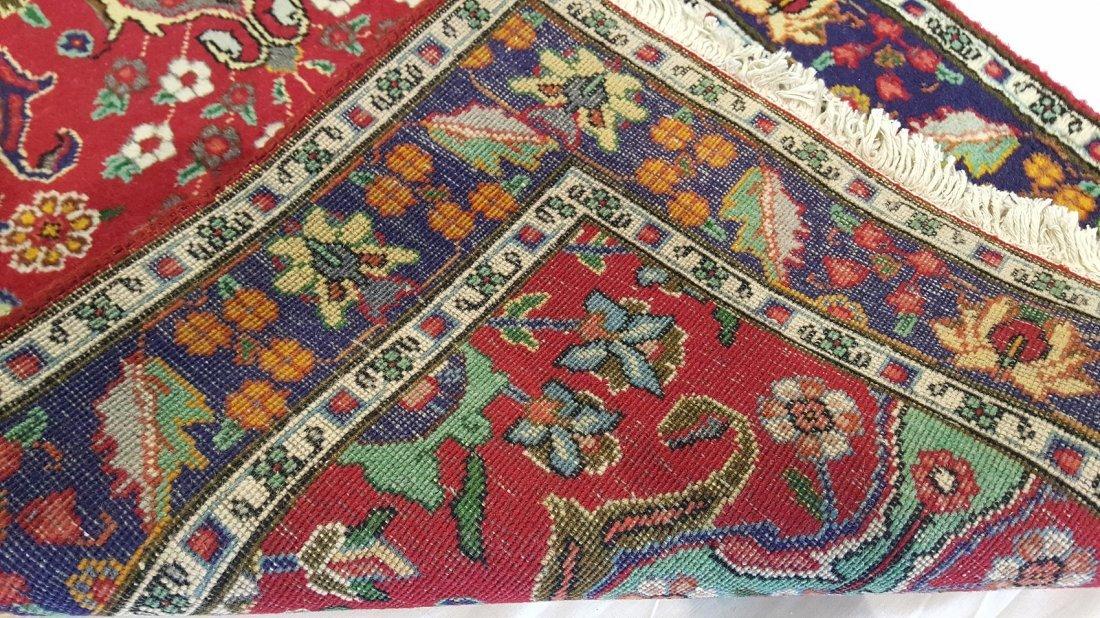 Fine Persian Tabriz Runner Rug Carpet - 4