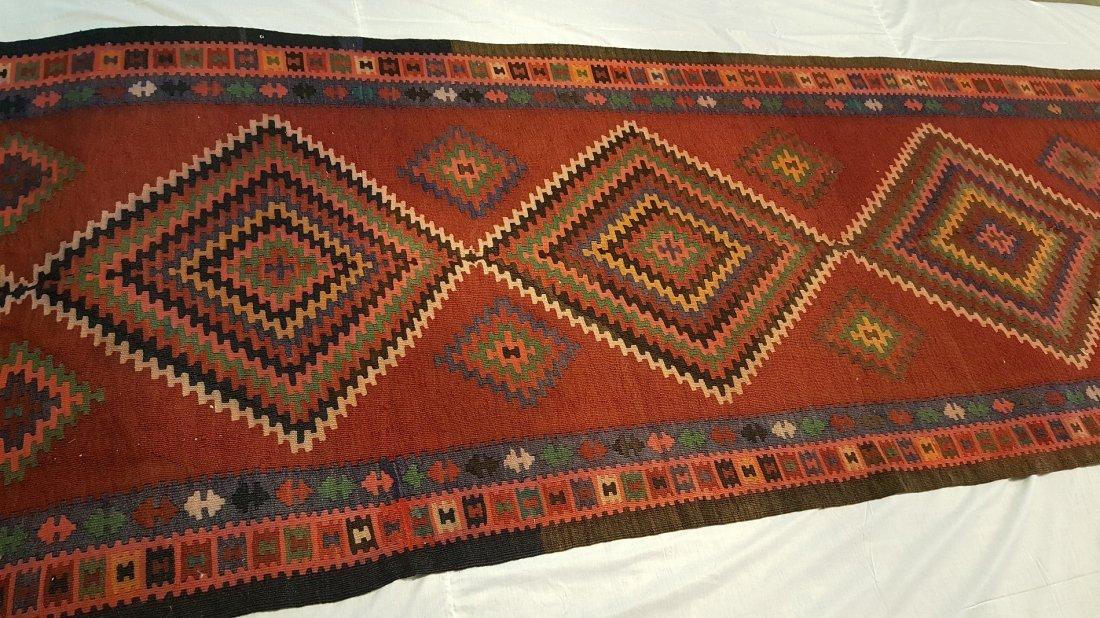 Persian Ardabil Runner Kilim Rug Carpet - 2