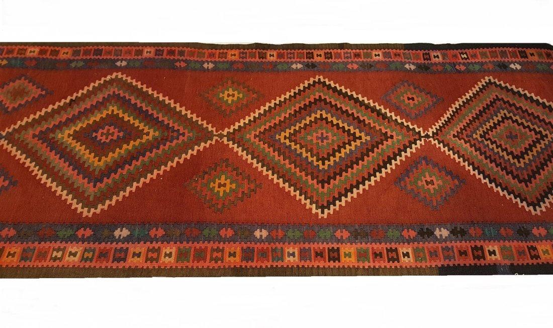Persian Ardabil Runner Kilim Rug Carpet - 3
