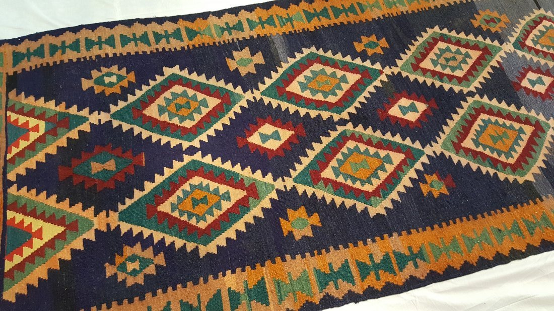Persian Shiraz Kilim Rug Carpet - 3