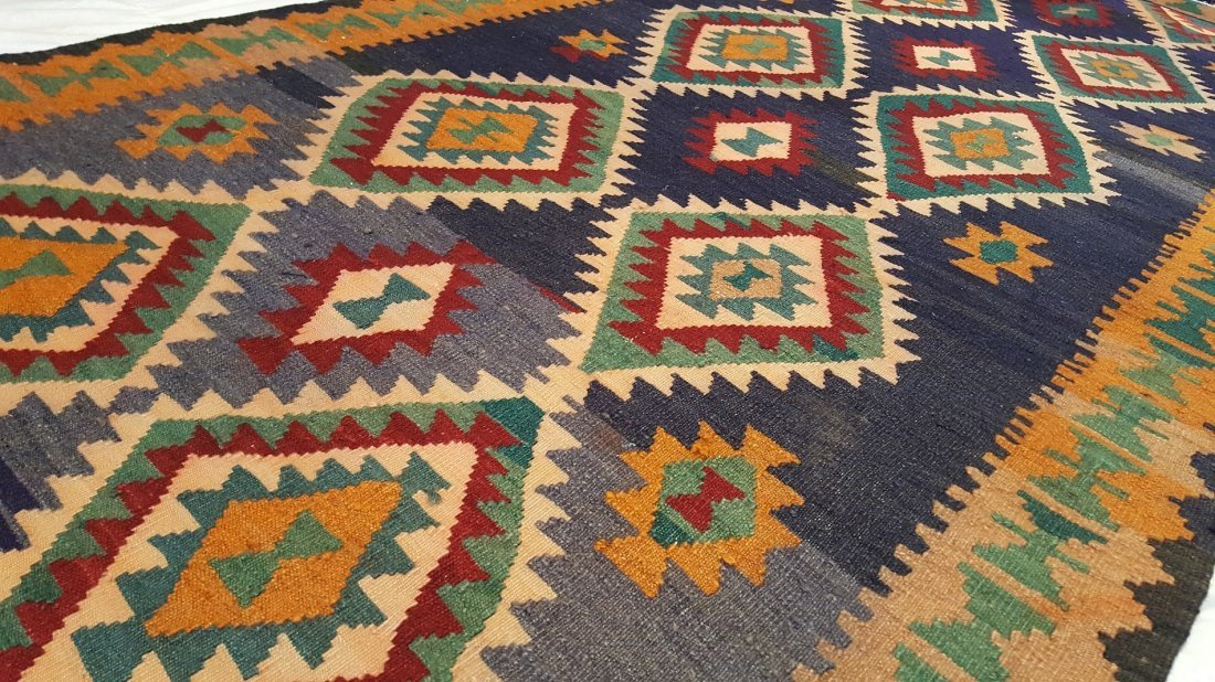Persian Shiraz Kilim Rug Carpet - 4