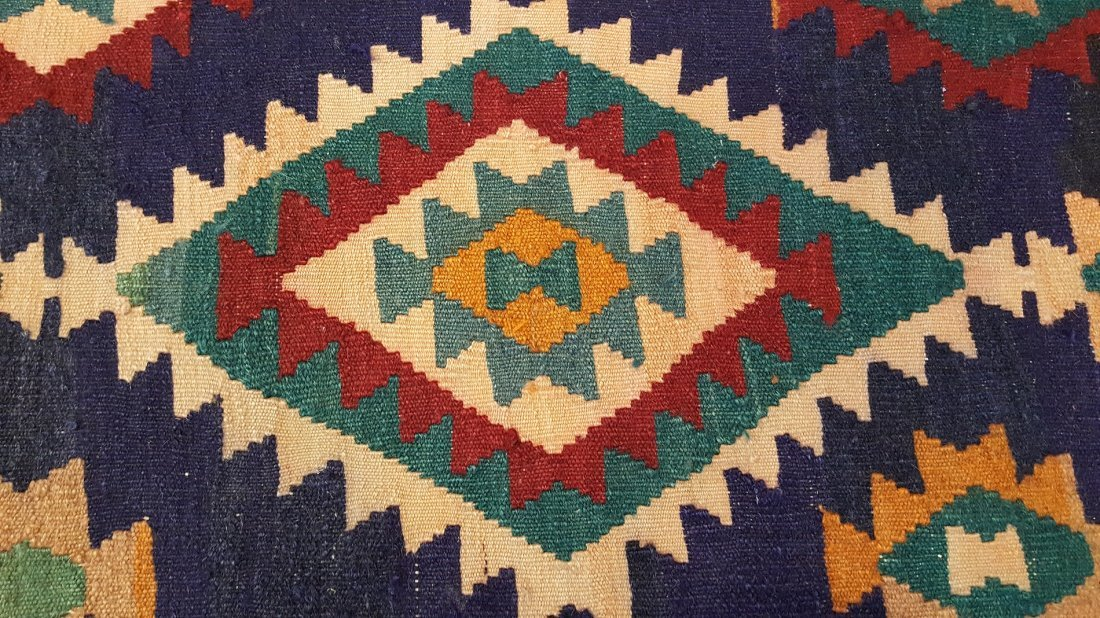 Persian Shiraz Kilim Rug Carpet - 5