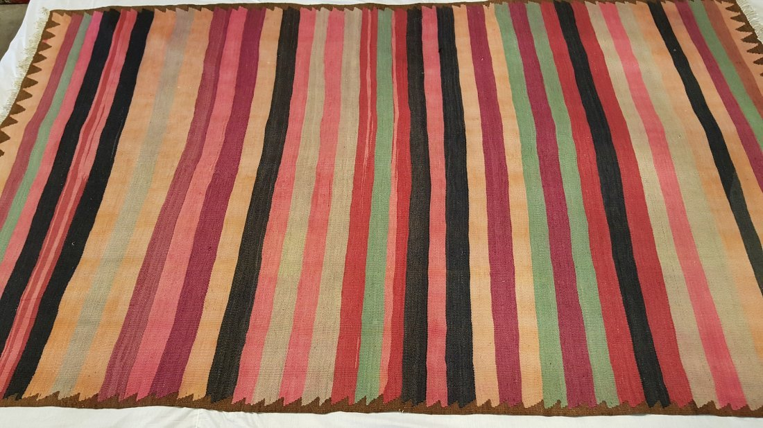 Persian Meshkin Kilim Rug Carpet - 2