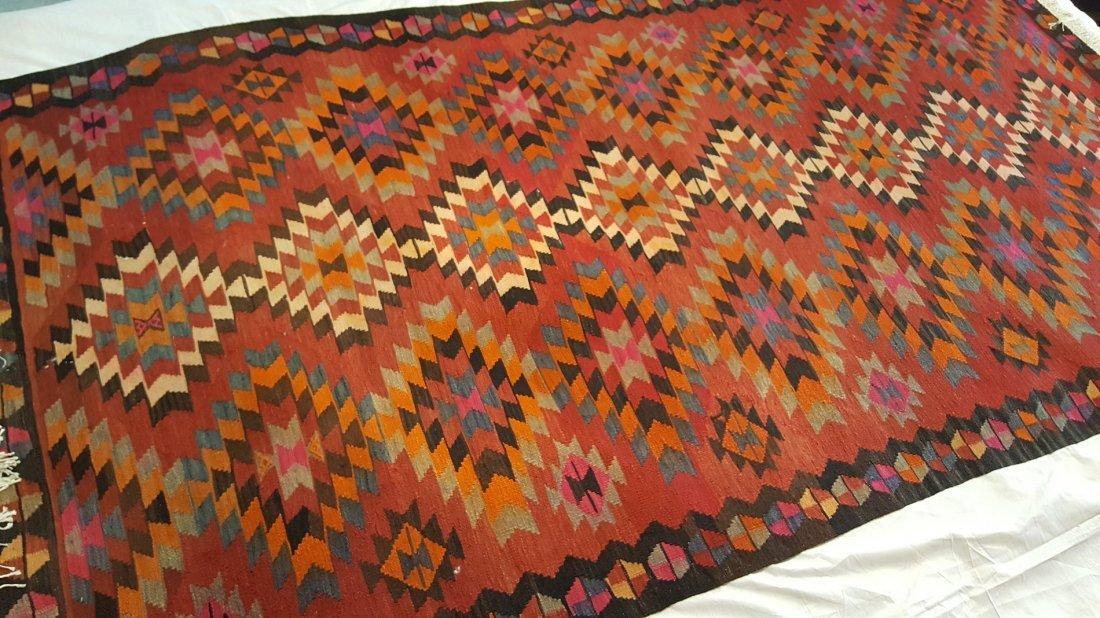 Persian Qashqai Kilim Rug Carpet - 3