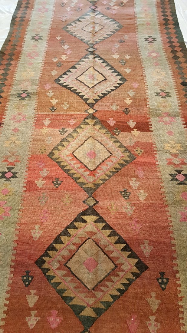 Antique Persian Qashqai Kilim Rug Carpet - 4
