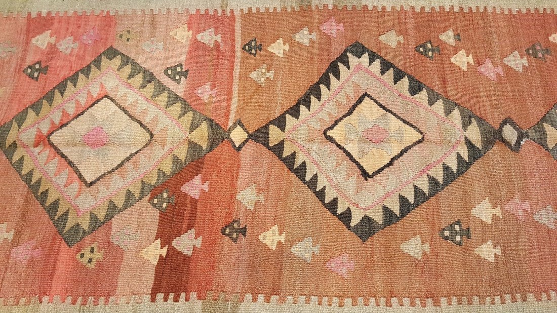 Antique Persian Qashqai Kilim Rug Carpet - 6