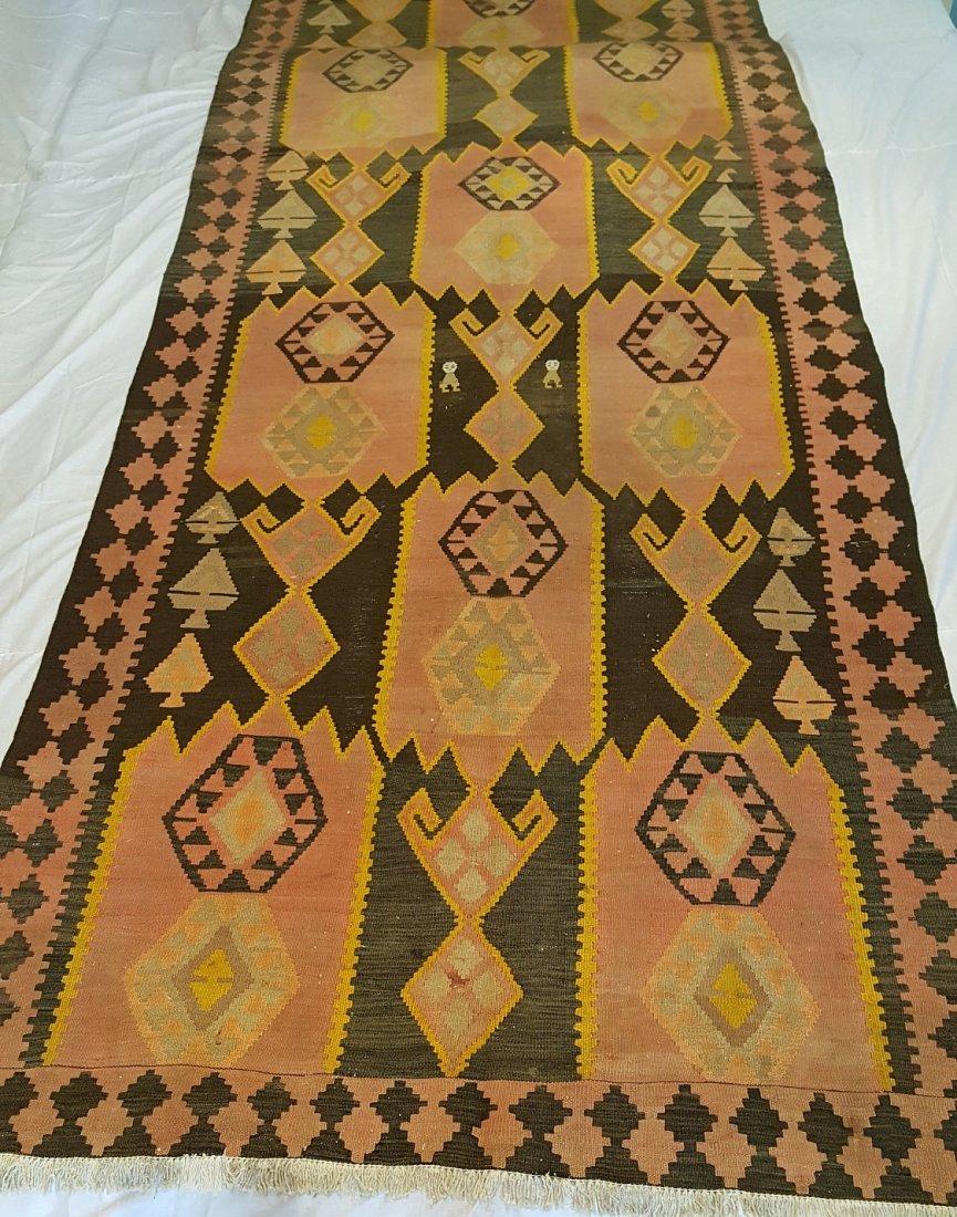 Kazak Kilim Rug Carpet - 6