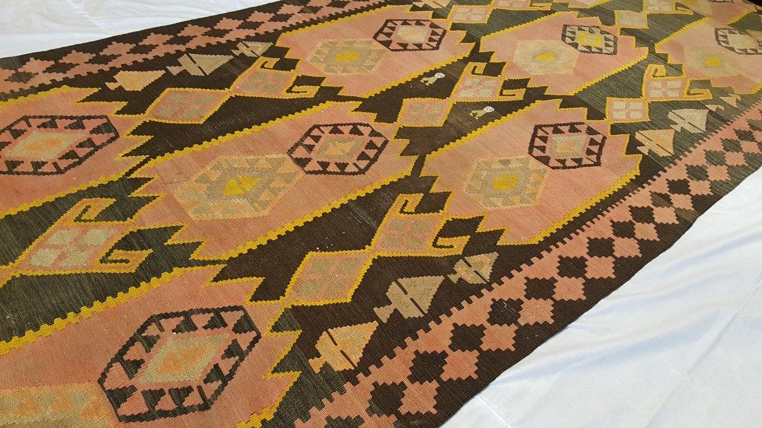 Kazak Kilim Rug Carpet - 7