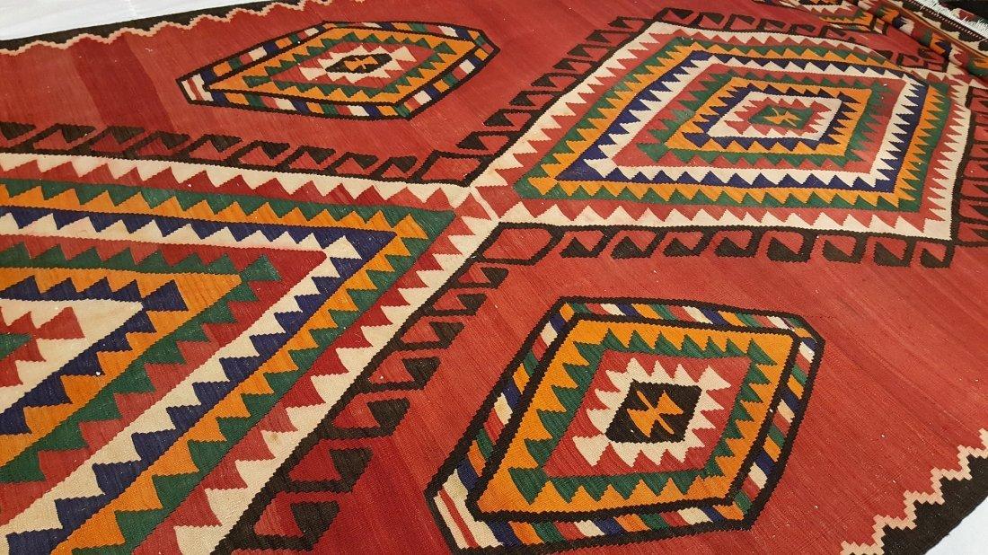 Persian Meshkin Kilim Rug Carpet - 6