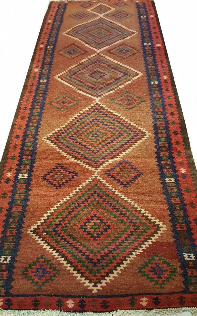 Persian Qashqai Runner Kilim Rug Carpet