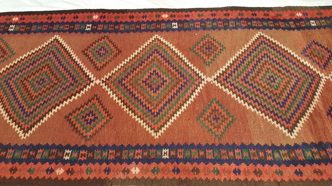 Persian Qashqai Runner Kilim Rug Carpet - 2
