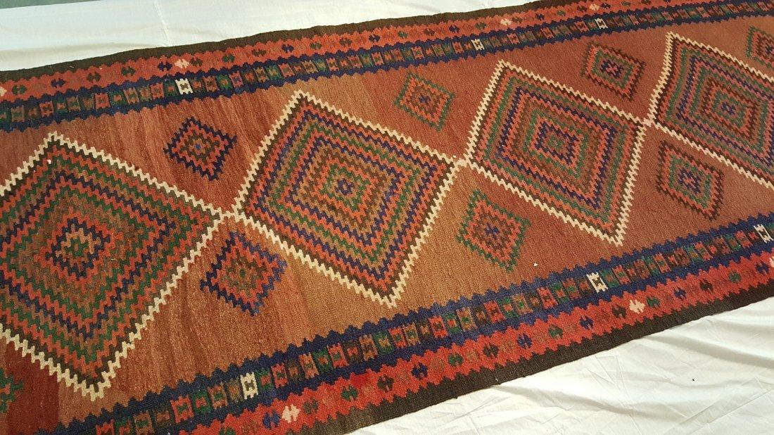 Persian Qashqai Runner Kilim Rug Carpet - 3