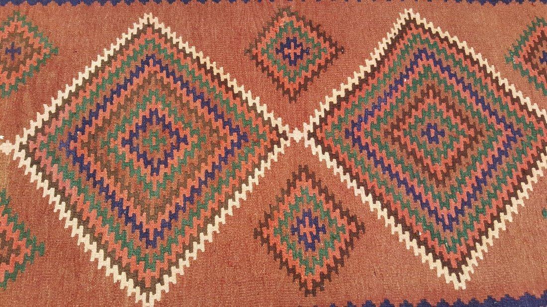 Persian Qashqai Runner Kilim Rug Carpet - 4