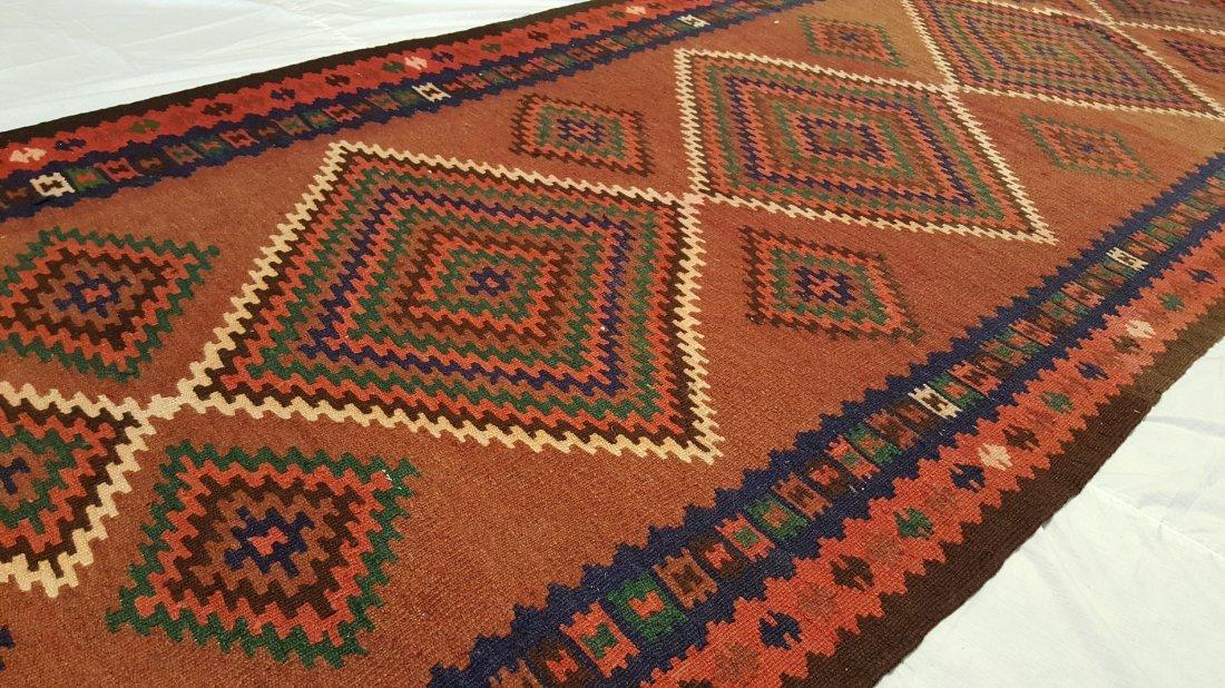 Persian Qashqai Runner Kilim Rug Carpet - 6
