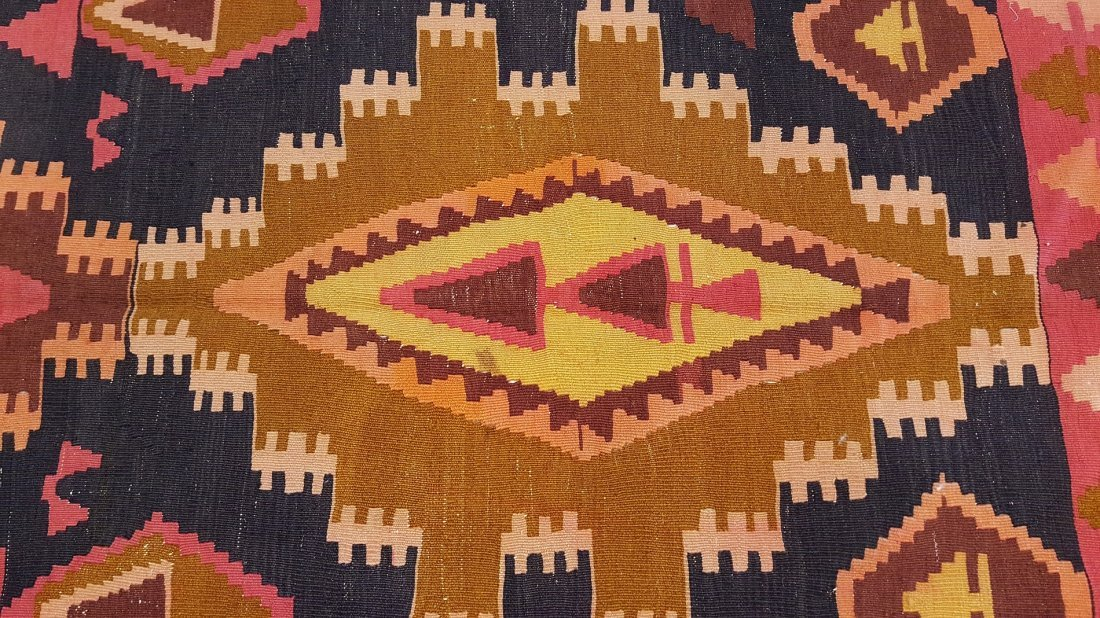 Kazak Kilim Rug Carpet - 3