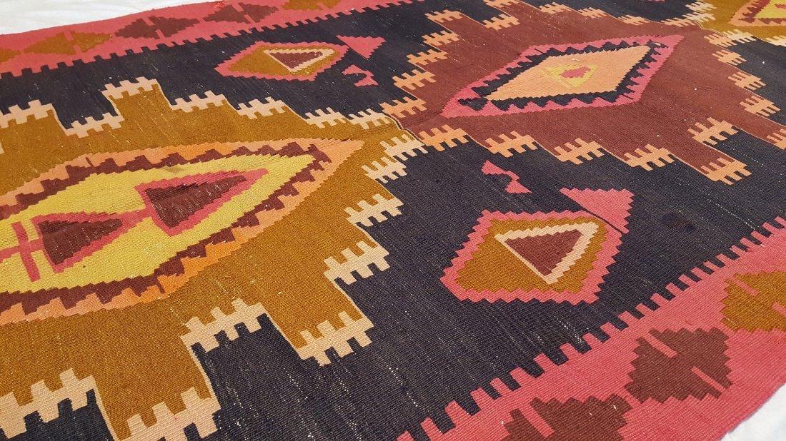 Kazak Kilim Rug Carpet - 5