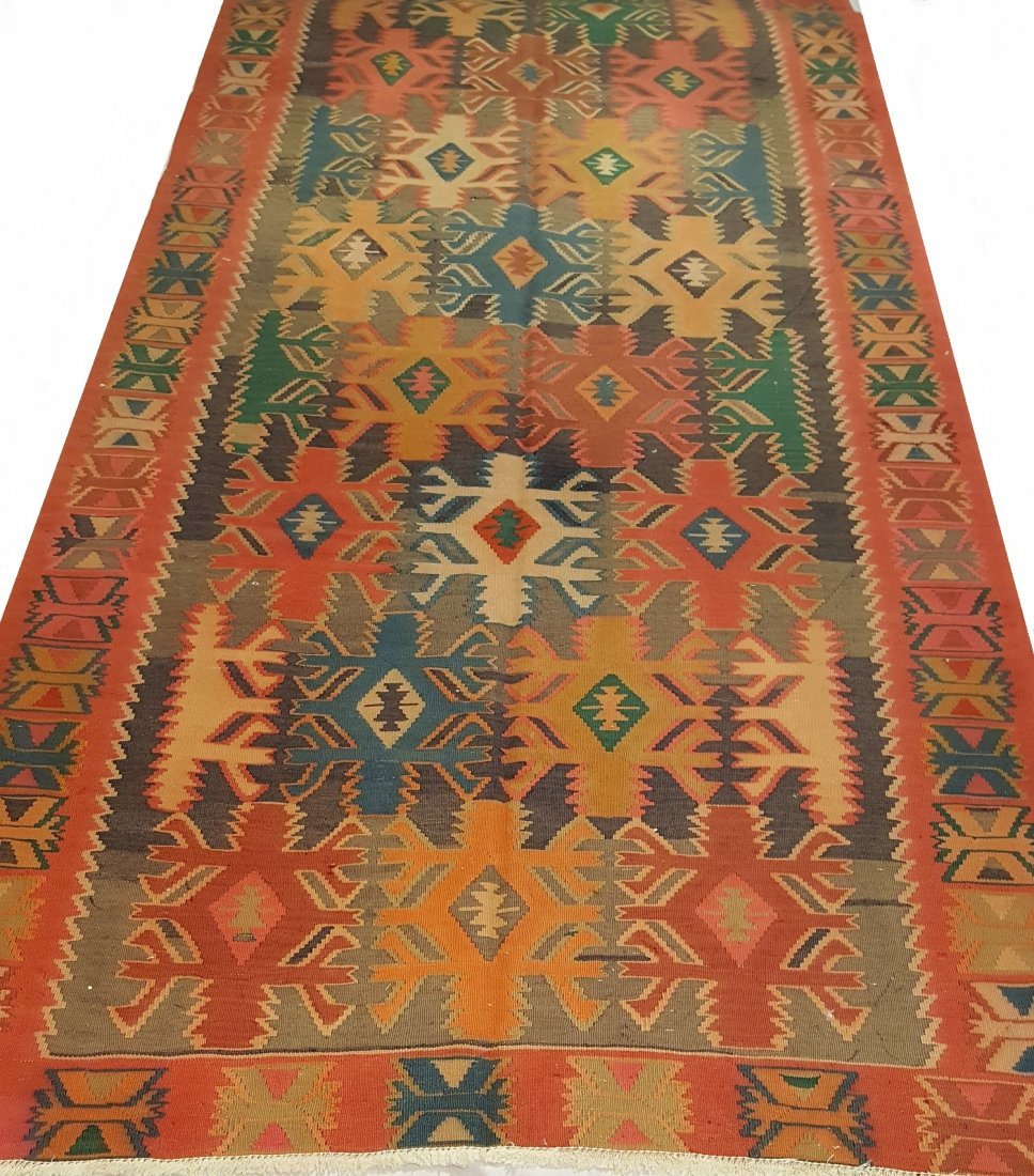 Antique Quba Kilim Rug Carpet